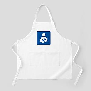 Breastfeeding Symbol [blue] Apron